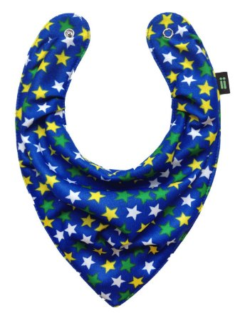 Babador Bandana Estrelado Azul - Gumii