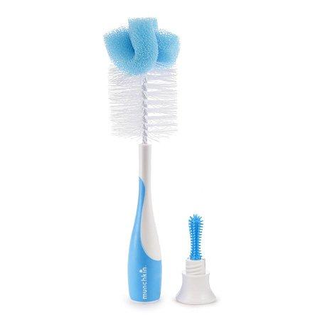 Escova para Limpeza de Mamadeiras e Bicos Azul - Munchkin