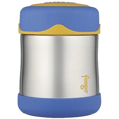 "Pote Térmico ""Foogo"" Azul e Amarelo - Thermos"