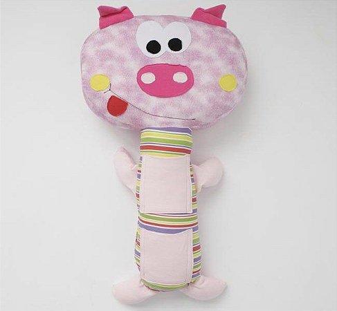 Almofada para Cinto de Segurança Porquinha - Colo de Mãe