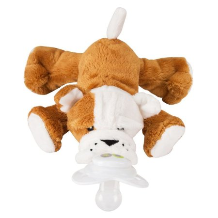 Paci Plushies Nookums Bull Dog Barkley - Prendedor de Chupeta Universal