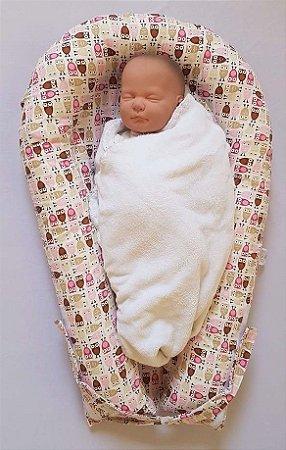 Ninho U-Baby Redutor de Berço Corujinhas - Colo de Mãe