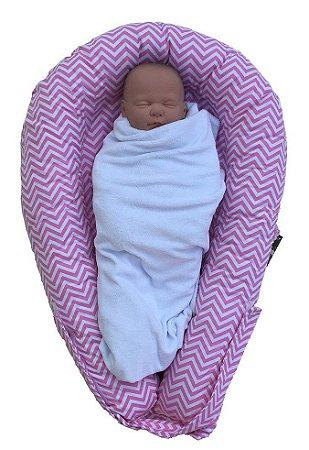 Ninho U-Baby Redutor de Berço Chevron Rosa - Colo de Mãe