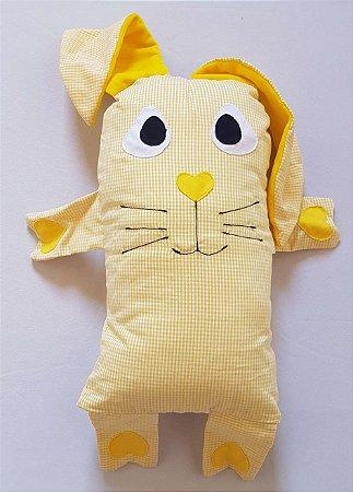 Naninha Travesseiro Coelho Amarelo - Colo de Mãe