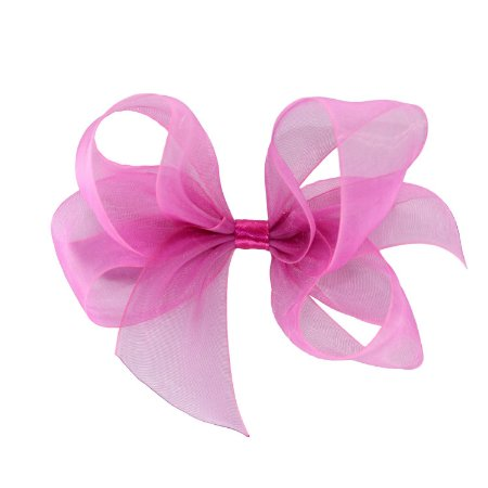 Laço para Cabelo em Organza Rosa Pink M - Gumii