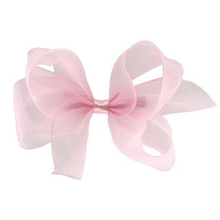 Laço para Cabelo em Organza Rosa Claro M - Gumii