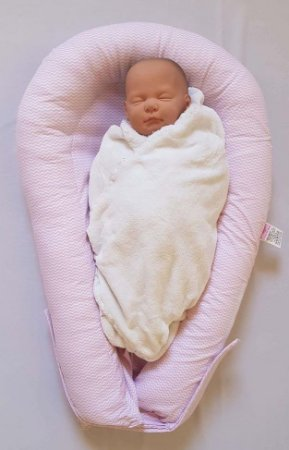 Ninho U-Baby Redutor de Berço Rosa - Colo de Mãe