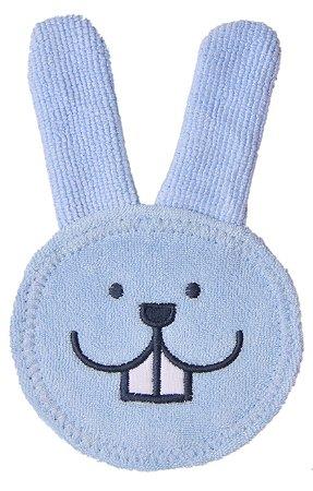 Luva para Cuidado Oral do Bebê (Oral Care Rabbit) 0+meses Azul - MAM