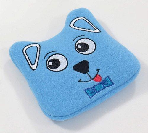 Almofada Térmica de Ervas Naturais para Alívio das Cólicas e Gases (Pelúcia) Cachorro Azul - Bebê sem Cólica