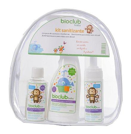 Kit Necessaire Higienizador (Spray Higienizador para Mãos sem Álcool + Refil Higienizador + Spray para Limpeza de Azulejos e Banheiras) - Bioclub Baby