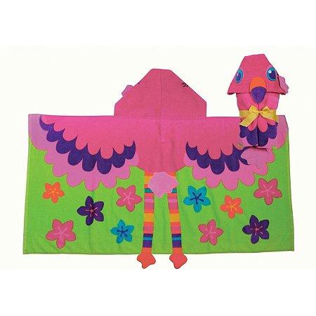 Toalha de Praia e Piscina com Capuz Flamingo - Stephen Joseph