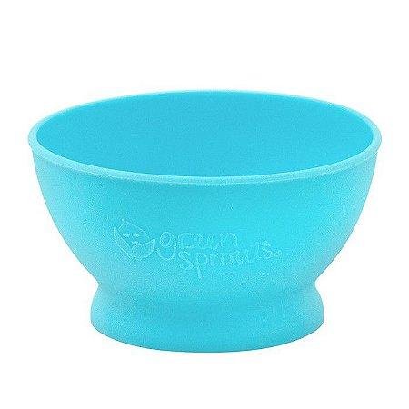 Tigela Infantil de Silicone Azul Acqua - Green Sprouts