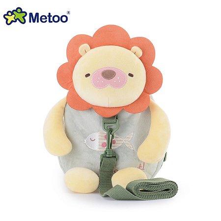 Mochila Infantil com Alça de Segurança Leão - Metoo
