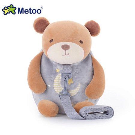 Mochila Infantil com Alça de Segurança Urso - Metoo