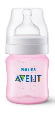Mamadeira Avent Clássica Anti-Cólica 125ml 0+ Meses Rosa - Philips Avent