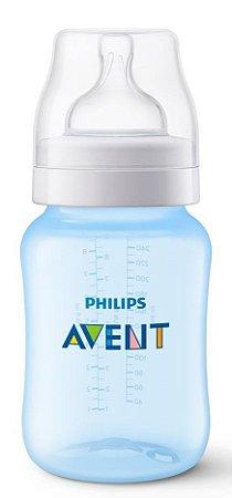 Mamadeira Avent Clássica Anti-Cólica 260ml 1+ Meses Azul - Philips Avent