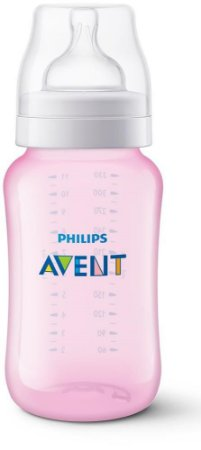 Mamadeira Avent Clássica Anti-Cólica 330ml 3+ Meses Rosa - Philips Avent