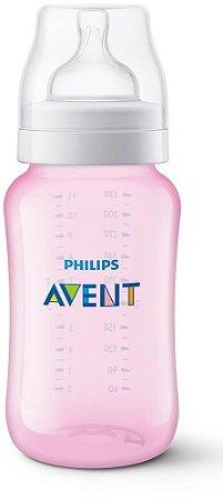 Mamadeira Avent Clássica Anti-Cólica 330ml 3+ Meses Rosa - Philips Avent