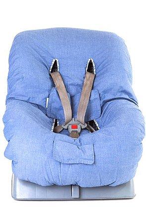 Capa para Cadeirinha do Carro Chambre Jeans - Candytree