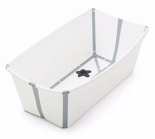 Banheira Dobrável Flexi Bath Branca com Cinza - Stokke