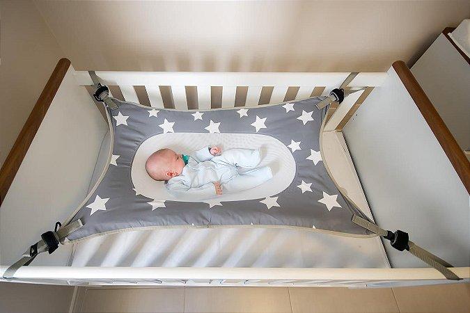 Cama Segura para Bebê Primeiro Sono Cinza - Baby Pil