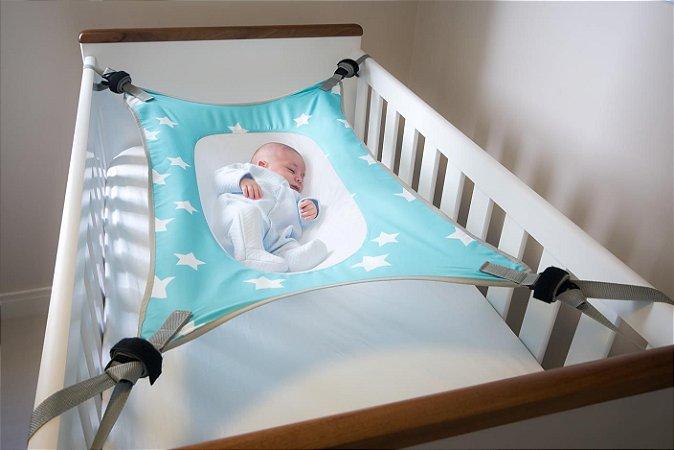 Cama Segura para Bebê Primeiro Sono Verde Água - Baby Pil