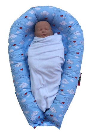 Ninho U-Baby Redutor de Berço Céu Azul - Colo de Mãe
