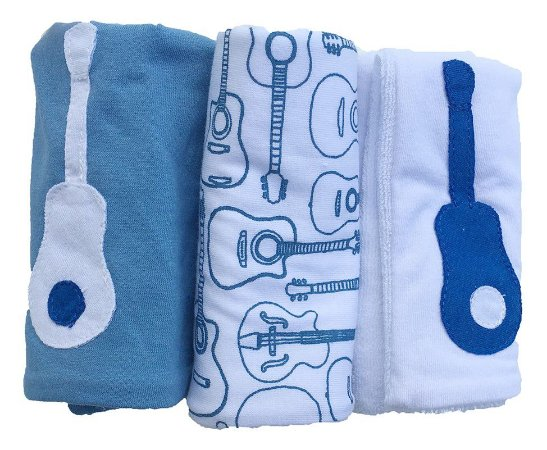 Pano de Boca para Bebê (3 unidades) Violão - Colo de Mãe