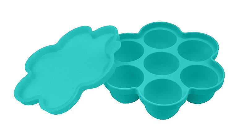 Porta Papinha de Silicone com Tampa (Permite Freezer e Microondas) - Girotondo Baby