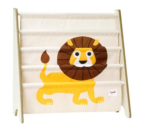 Rack para Livros Infantis Leão - 3 Sprouts