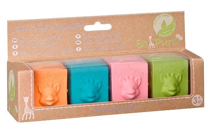 Cubos de Atividades Sophie La Girafe Coloridos - Vulli