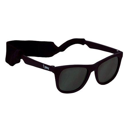 4a03ed822c127 Óculos de Sol Flexível (Bêbê e Criança) com Proteção Solar Preto - Iplay