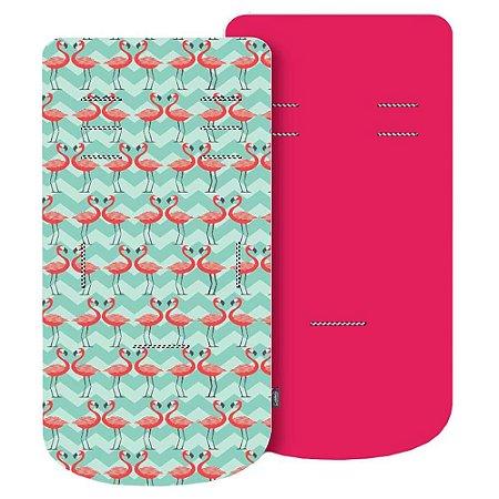 Almofada para Carrinho com Espuma de Viscoelástico Comfi-Cush Flamingo - Clingo