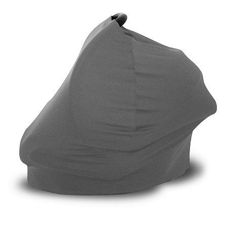 Capa Multifuncional para Mamãe e Bebê (5 funções) Cinza - Colo de Mãe