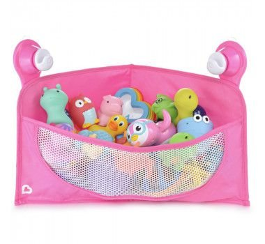 Organizador para Brinquedos de Banho com Ventosa Rosa - Munchkin