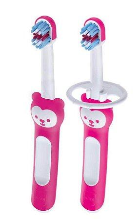 """Kit de Escovas de Dente para Bebê """"Babys Brush"""" Menina - MAM"""