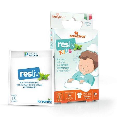 Resliv Kids Adesivos Naturais Que Aliviam A Respiração - Babydeas