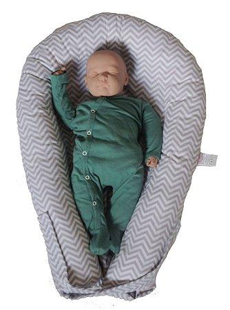 Ninho U-Baby Redutor de Berço Chevron Cinza - Colo de Mãe