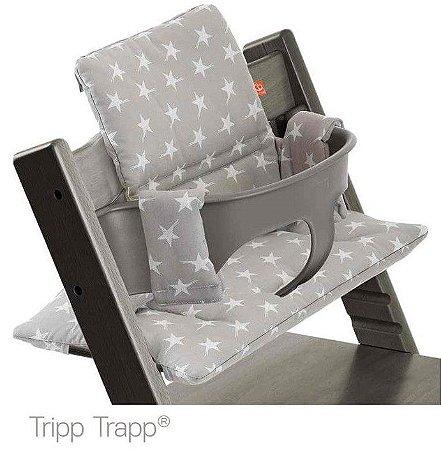 Almofada Tripp Trapp Orgânica Grey Star - Stokke