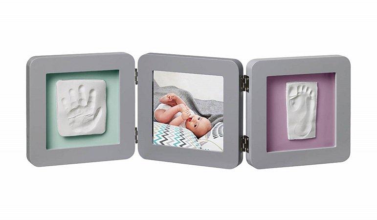 Porta Retrato com Molde Duplo My Baby Touch Grey - Baby Art