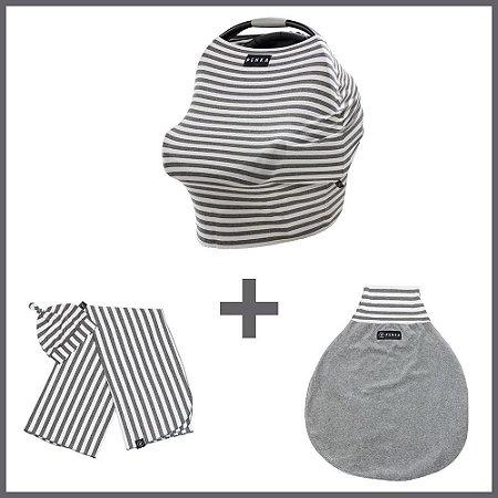 Kit Enxoval Bebê Essencial Capa + Kit Cueiro + Saco de Dormir Tom - Penka & Co
