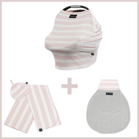 Kit Enxoval Bebê Essencial Capa + Kit Cueiro + Saco de Dormir Aurora - Penka & Co