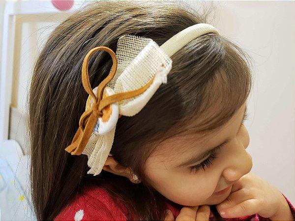 Tiara Infantil com Laço Detalhado - Mamaeqfez