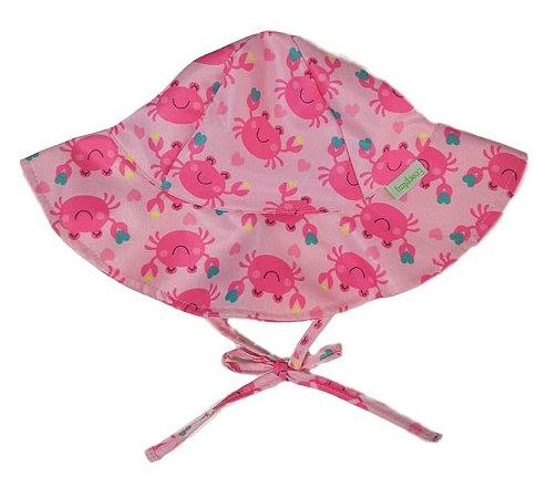Chapéu de Banho Infantil com FPS +50 Siri Rosa - Ecoeplay