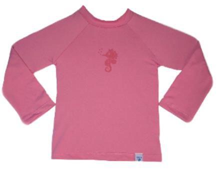 Camiseta Infantil de Banho com FPS 50+ Manga Longa Rosa - Ecoeplay