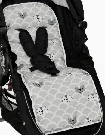 Almofada Protetor de Carrinho Dupla Face Gatinhos - Momis Petit