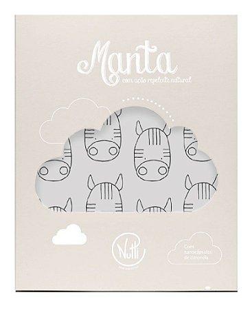 Manta Protetora com Repelente Zebrinhas Cinza - Nutti