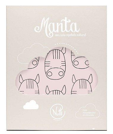 Manta Protetora com Repelente Zebrinhas Rosa - Nutti