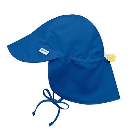 Chapéu de Banho Infantil Australiano com FPS +50 Azul Royal - iPlay