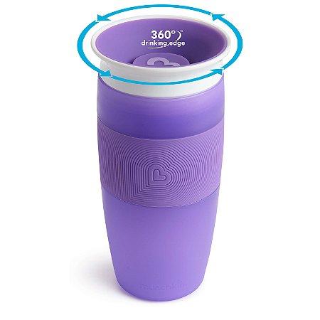 Copo de Treinamento 360 (Miracle Cup) Roxo 414ml - Munchkin